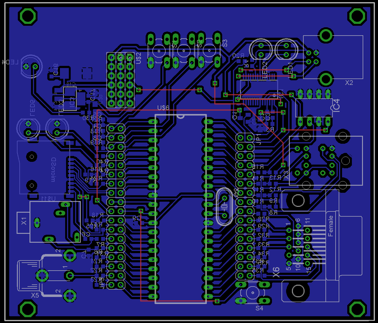 Board Layout with Parts